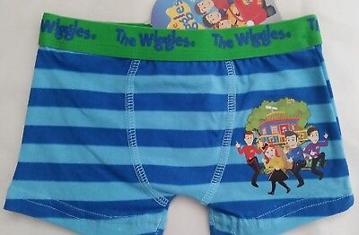THE WIGGLES Boy Licensed stretch trunks OR briefs undies NEW sz 2-3 , 3-4 , 4-6