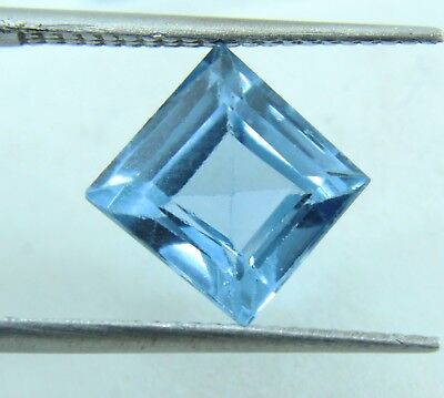 3.35 Ct Natural Emerald Cut Transparent Ocean Blue Aquamarine Gem GGL certified