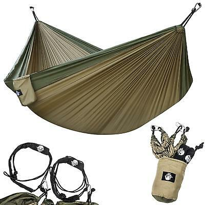 Double Hammock Lightweight Parachute Portable for Hiking Travel Beach Camping