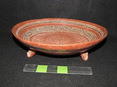 Pre Columbian, Pottery, Aztec Tripod Bowl, Late Post Classic 1200 1500 AD