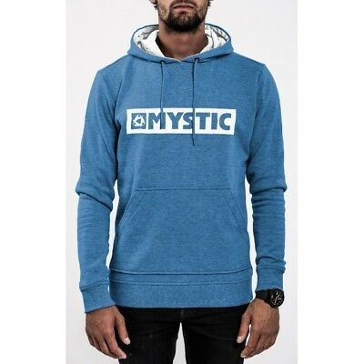 Mystic Hoody Xl Mens Brand 2.0 Sweat Cloud Blue Kitesurf Wakeboard New