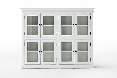 Nova Solo Halifax Assembled White Mahogany Solid Wood - 8 Door Storage Cabinet