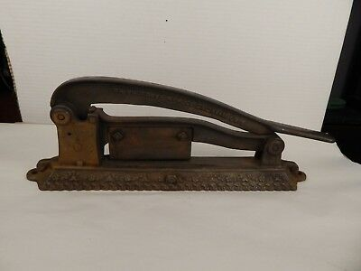 antique Cast Iron TOBACCO Plug CUTTER General Store BRUNHOFF Cincinnati
