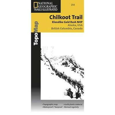 Chilkoot Trail Elevation Map.National Geographic Chilkoot Trail Klondike Gold Rush Trails Illus