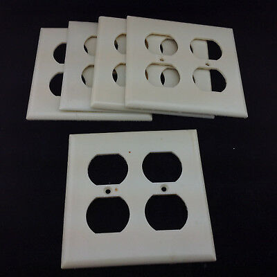 Eagle Electrical 2 Gang Wall Outlet Cover Plate Lot of 5