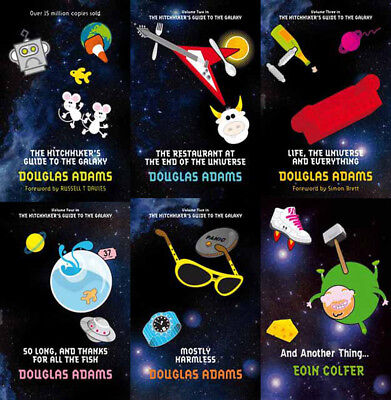 The HITCHHIKERS GUIDE TO THE GALAXY Series By Douglas Adams (6 MP3 Audiobooks)
