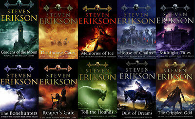 The MALAZAN BOOK OF THE FALLEN Series By Steven Erikson (10 MP3 Audiobooks)