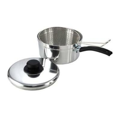 Value plus 20 cm Polished Chip Pan with Lid