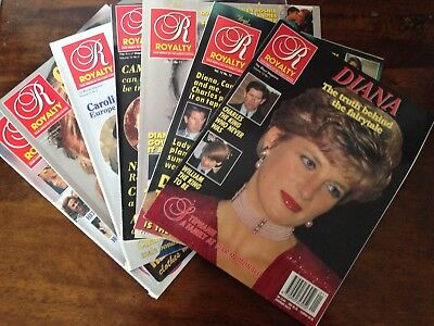 Royalty Monthly Magazine Loose and in Binder Princess Diana