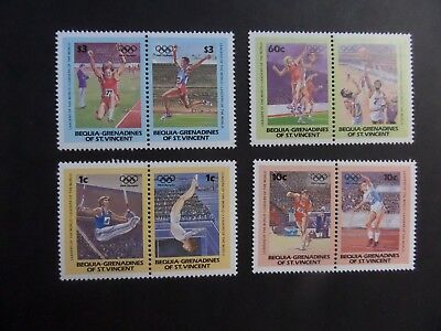 Bequia Gren St Vincent 1984 sports pairs Olympics MNH UM unmounted mint