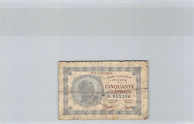 France - Sarre Mines Domaniales 50 Centimes 1.1.1930 n° A959596