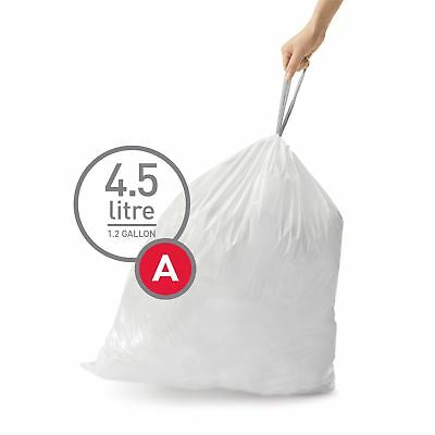 simplehuman Code Size A - Custom Fit Waste Bin Liners Bags - 4.5 Litres, 30 Pack