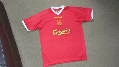 quality design f470b f0e99 MEN'S REEBOK LIVERPOOL 2001-03 Home European Football Shirt Size Medium in  Red