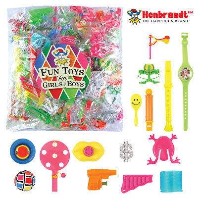 100 Assorted Kids Party Bag Fillers Pinata Favours Lucky Dip Prizes Loot Toys UK