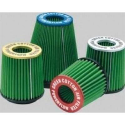 TA3.75 - Green Filter Universelle Power-Flow Zylindrische Silber Ta3.75