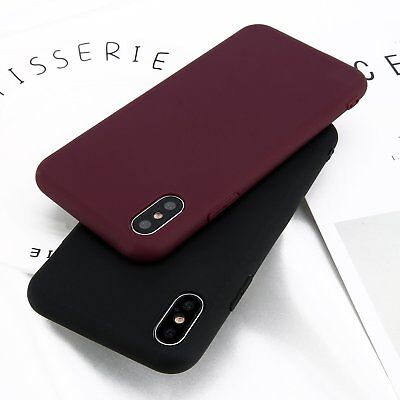 Soft Feeling Jelly Case TPU Matte Silicone Rubber for iPhone X XS 8 7 6 Plus KI