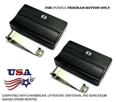 LiftMaster Purple Learn Button Visor Remote Comp Security+ 315 MHz 371LM 2 Pak