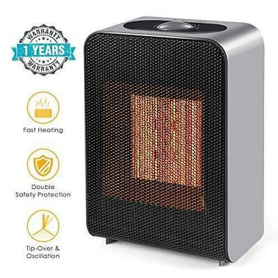 1500W PTC Ceramic Portable Electric Space Heater Fan Heating Warmer Room Office
