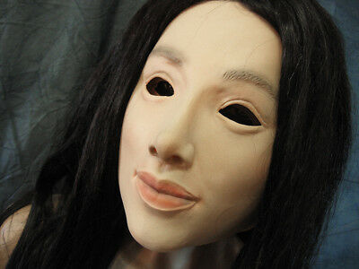 Rubber Mask LILLY - Female Woman Latex Face Crossdresser Transgender T-Doll