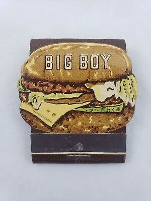Vintage Frisch's Big Boy Hamburger Sandwich Match Book Unused Matches