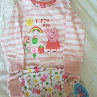 PEPPA PIG MOTHERCARE GIRLS PYJAMAS SET ***BRAND NEW *** size 1.5 - 2 year olds