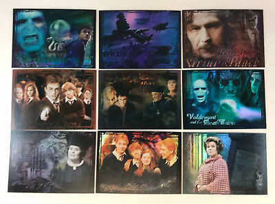 HARRY POTTER ORDER OF THE PHOENIX UPDATE Complete FOIL Chase Card Set of 9 R1-R9