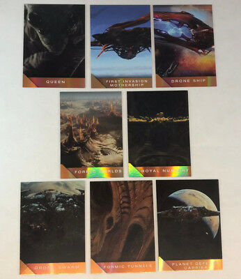 ENDER'S GAME (Cryptozoic/14)  Complete FORMIC FOIL Chase Card Set of 8 (SB01-08)