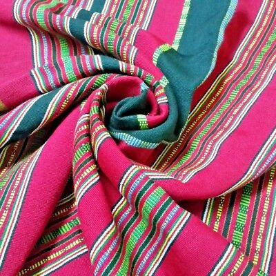 plant dye-tribal cotton textile-handwoven traditional cotton runner  pink-browngrey soft cotton Traditional weaving karen tribe textile