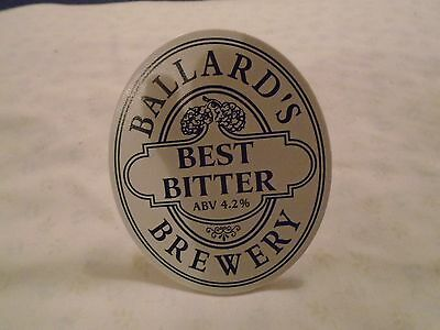 Ballards Best Bitter Beer Pump Clip Badge