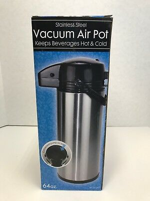 Stainless Steel Glass-Lined Steel Body, 64 oz (1.9-L) Push-Button Vacuum Server