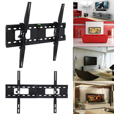 "TV Wall Bracket Mount Stand Tilt Swivel Flat For LED LCD 26 -70"" Load 60Kg US"