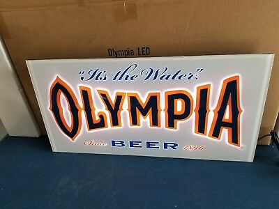 (L@@K) Olympia beer 3-d led light up sign bar game room oly Washington mn mib