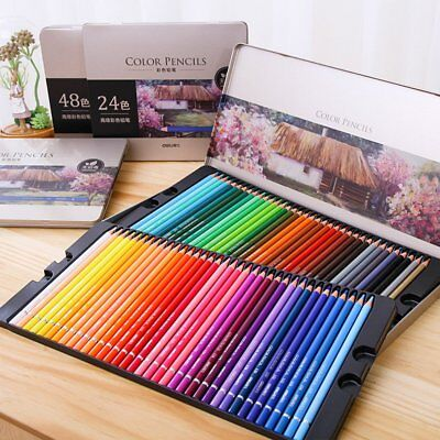 72 Color Fine Art Marco Drawing Non-toxic Oil Base Pencils Set for Artist SketDF