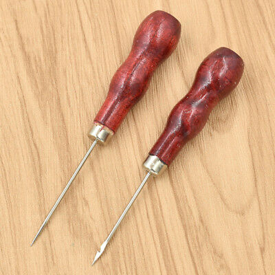 Taper Shoes Repair Sewing Awl Crochet Hook Wooden Sewing Accessory Punch Needle