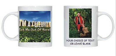 I'm A Celebrity 2018 Personalised Mug Choice Of Celebrity's Picture Christmas
