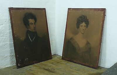 Pair Of Very Appealing Early 19Th Century Charcoal Portraits Manner Of G. Hayter