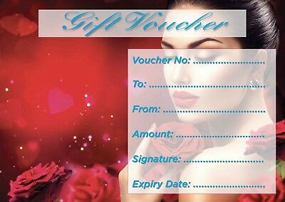 Beauty Salon nail,hair,sunbed etc blank gift voucher/card x15 plus envelopes..,,