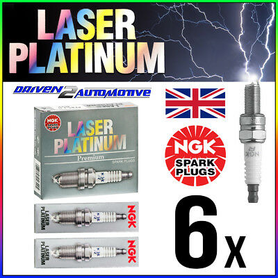 6 x NGK BKR6EQUP LASER PLATINUM SPARK PLUGS WHOLESALE PRICE FAST SHIPPING