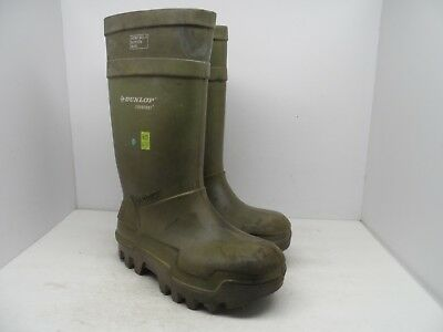 DUNLOP Men's Purofort Thermo+ STSP  Cold Weather Boots Green Size 10M