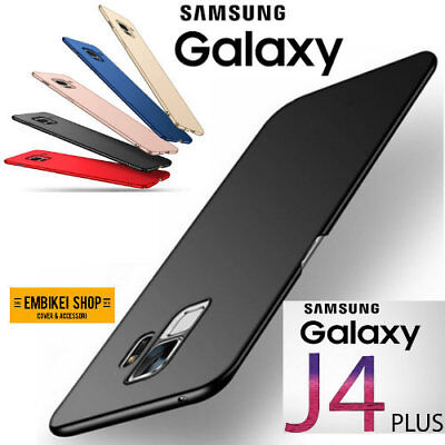 Samsung Galaxy J4 PLUS COVER CUSTODIA SILICONE Tpu MORBIDA Slim Opaca Matte