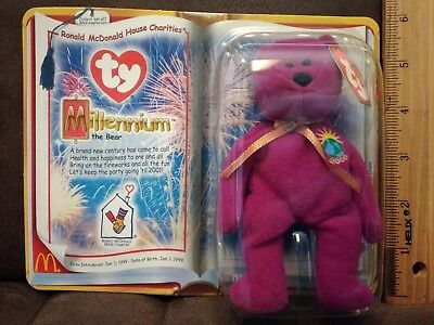 682dedc4bcd Mcdonald happy meal TY Teenie Beanie Baby Millennium the Bear new in the  box.