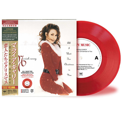 "Japan Only Ltd 7"" Red Vinyl Mariah Carey ""all I Want For Christmas Is You"" 2018"