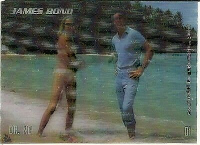 2008 Rittenhouse archives  James Bond in Motion lenticular set + Bond set