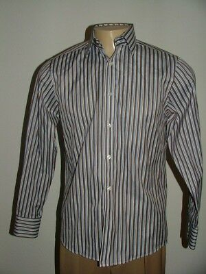 3dbcbc503528 TED BAKER MEN Long Sleeve Dress Shirt Stripe Blue White 15 1 2 ...