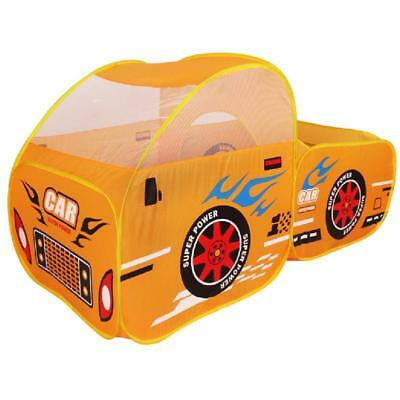 Kids Play Tents Yellow Car Toy Indoor Outdoor House Children Playhouse Hut Toys