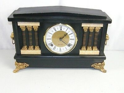 Classic Antique Sessions 8 Day Mantle Key Wind Clock Cathedral Gong