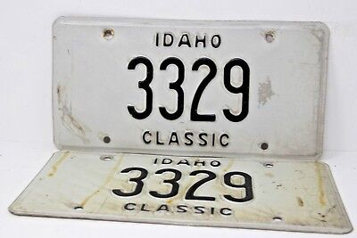 IDAHO Classic License Plate Collectible Antique Vintage Matching Pair Set 3329