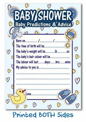 16 Baby Shower Games Prediction Advice Boys Blue party favours