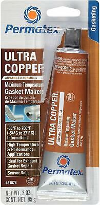 Permatex 81878 Ultra Copper Maximum Temperature RTV Silicone Gasket Maker 3oz