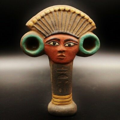 Rare Large Ancient Egyptian Faience Amulet Figurine....ONE OF A KIND